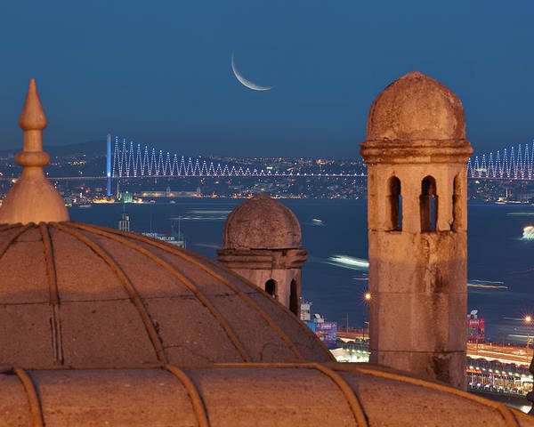 Horizontal Poster featuring the photograph Suleymaniye by Salvator Barki