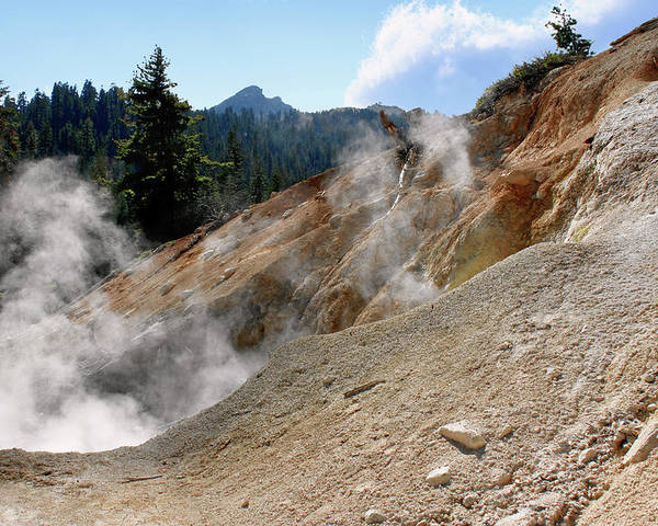 Lassen Volcanic Poster featuring the photograph Sulfur Works In Lassen Volcanic Park by Christine Till