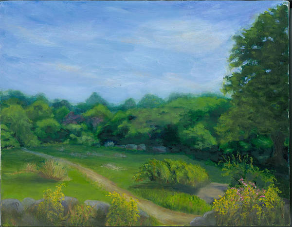 Landscape Poster featuring the painting Summer Afternoon At Ashlawn Farm by Paula Emery
