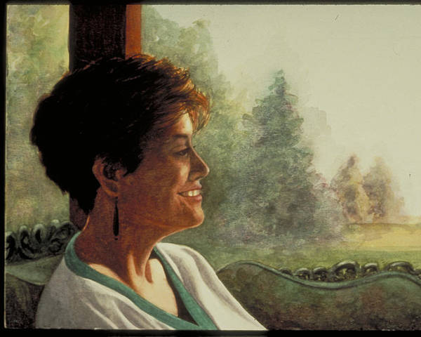 Watercolor Poster featuring the painting Summer Afternoon by Nancy Ethiel