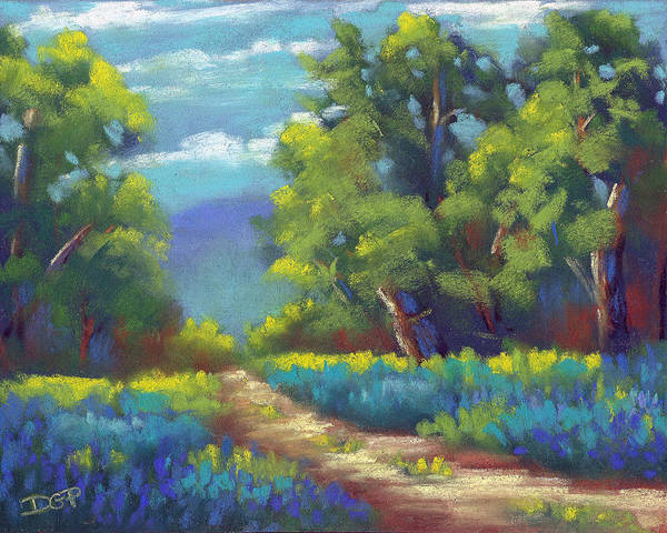 Summer Poster featuring the painting Summer Blues by David G Paul