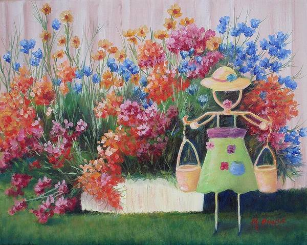 Landscape Poster featuring the painting Summer Bounty by Maxine Ouellet