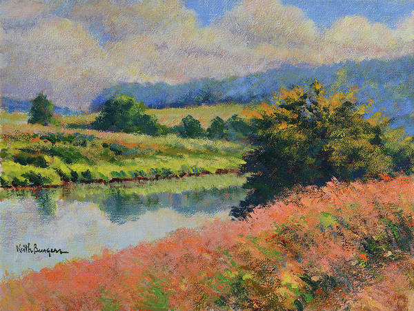 Impressionism Poster featuring the painting Summer Day by Keith Burgess