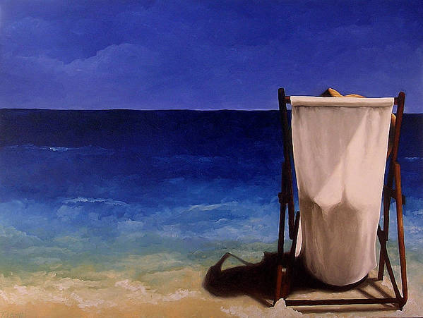 Seascape Poster featuring the painting Summer Days by Trisha Lambi