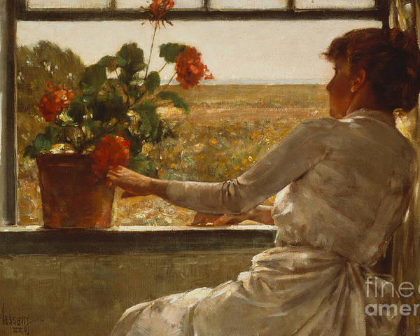 Summer Evening Poster featuring the painting Summer Evening by Childe Hassam
