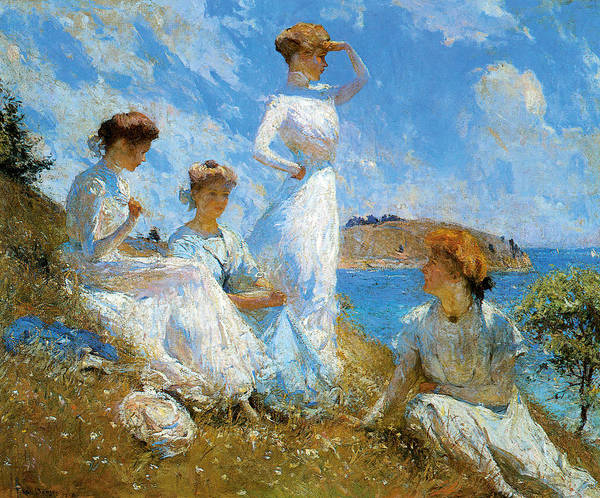 Frank Weston Benson Poster featuring the painting Summer by Frank Weston Benson