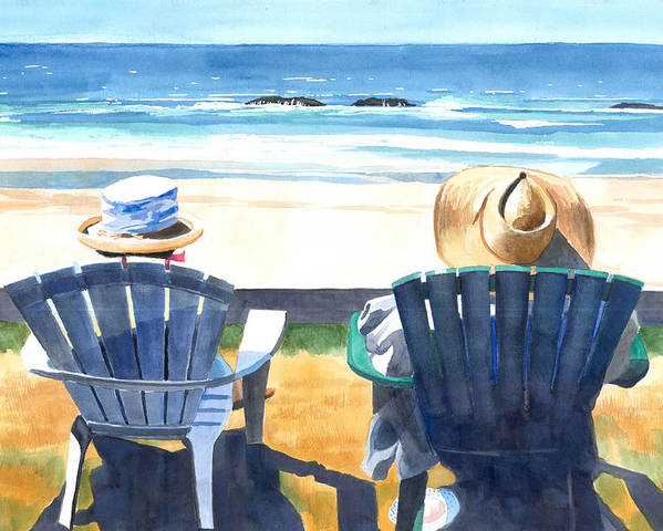 Oregon Coast Poster featuring the painting Summer In Lincoln City by Melody Cleary