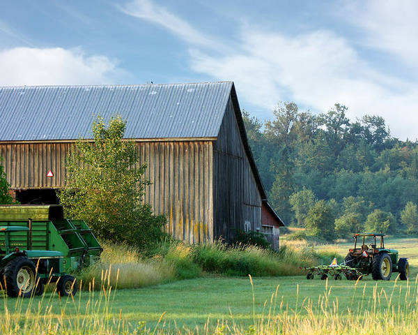 Landscape Poster featuring the photograph Summer On The Farm by Barbara White