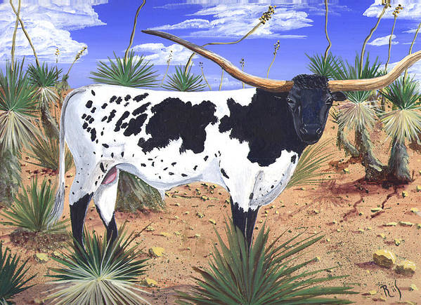 Western Art Poster featuring the painting Summer On The High Mesa by Dan RiiS Grife