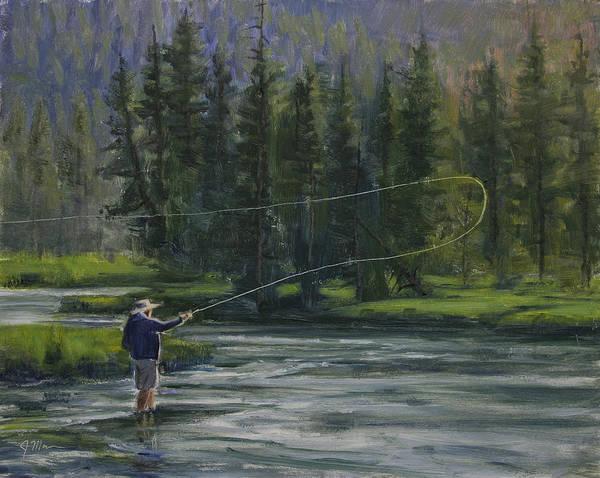 Flyfishing Poster featuring the painting Summer Rhythm by Joe Mancuso