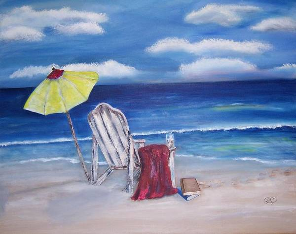 Landscape Poster featuring the painting Summers Dream by Penny Everhart