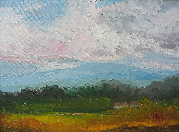 Landscape Poster featuring the painting Summertime by Belinda Consten