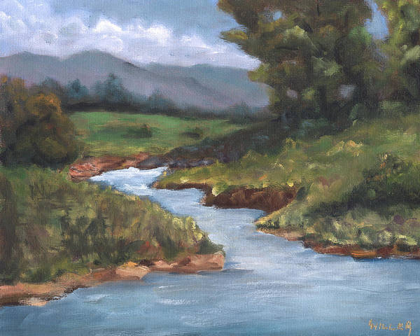 Country Poster featuring the painting Summertime by Linda Hiller
