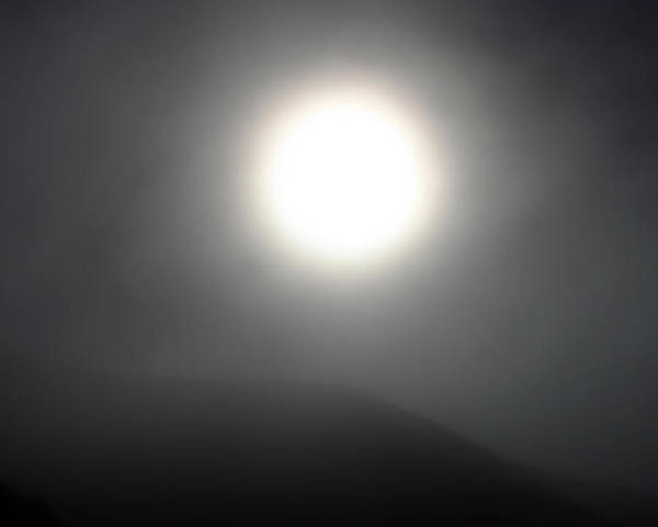 Sun Poster featuring the photograph Sun And Fog by Balanced Art