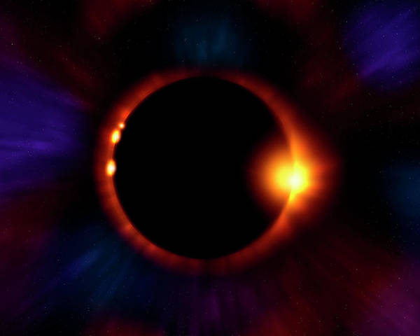Eclipse Poster featuring the photograph Sun Fire by Mark Andrew Thomas
