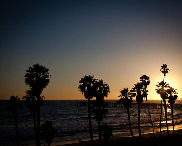 San Clemente Poster featuring the photograph Sun Going Down In California by Ralf Kaiser