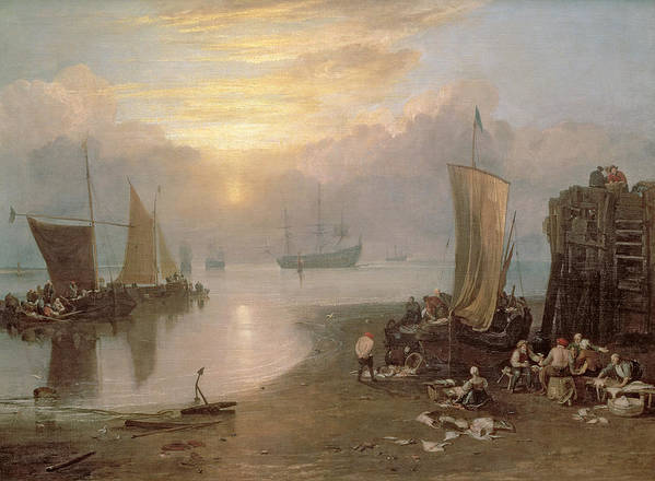 Sun Poster featuring the painting Sun Rising Through Vapour by Joseph Mallord William Turner