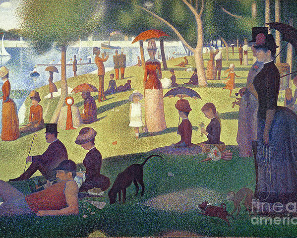 Sunday Poster featuring the painting Sunday Afternoon On The Island Of La Grande Jatte by Georges Pierre Seurat