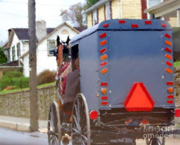 Amish Poster featuring the photograph Sunday Courting by Debbi Granruth