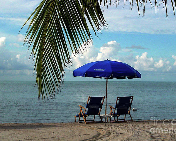 Beach Poster featuring the photograph Sunday Morning At The Beach In Key West by Susanne Van Hulst