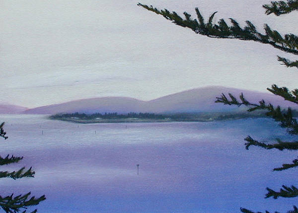 Landscape Poster featuring the painting Sunday Morning Bodega Bay California by Gary Jameson