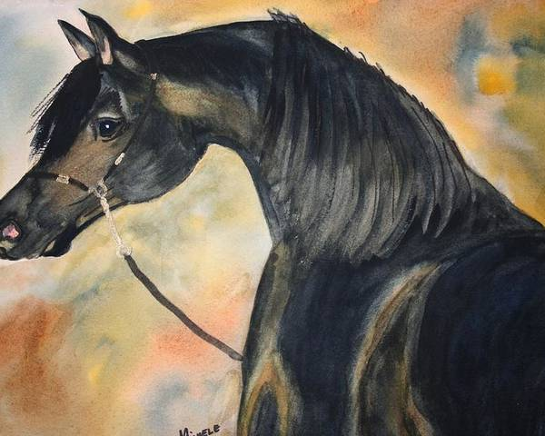 Horses Poster featuring the painting Sunlit Splendor by Michele Turney