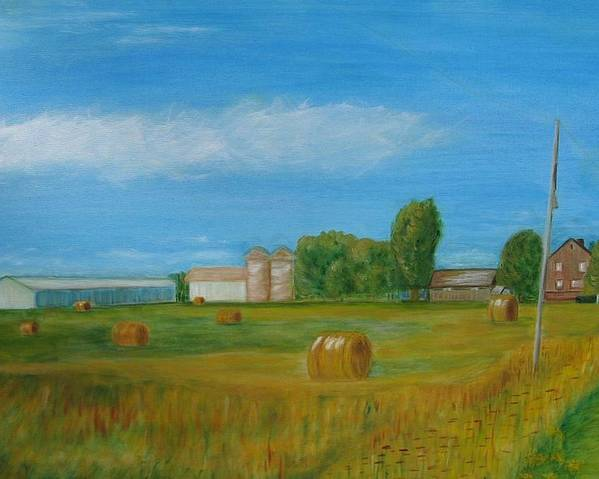Landscape Poster featuring the painting Sunny Day Summer by Patricia Ortman