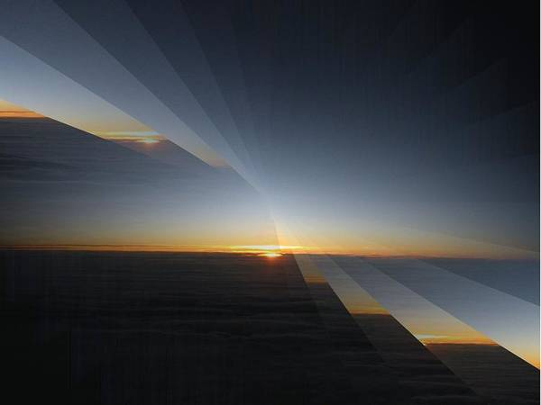Sunrise Poster featuring the photograph Sunrise At 30k 4 by Tim Allen