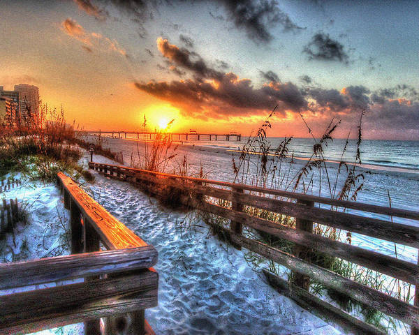 Alabama Photographer Poster featuring the digital art Sunrise At Cotton Bayou by Michael Thomas