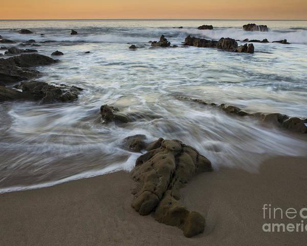 Laguna Beach Poster featuring the photograph Sunrise At Laguna Beach by Keith Kapple