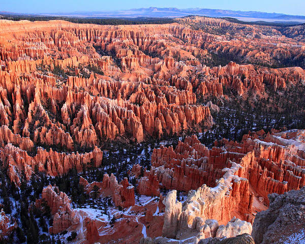 Bryce Poster featuring the photograph Sunrise In Bryce Canyon Amphitheater by Pierre Leclerc Photography