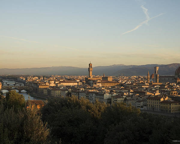 Landscape Poster featuring the photograph Sunrise In Florence by Luigi Barbano BARBANO LLC