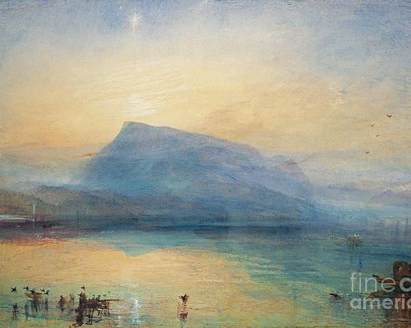 The Poster featuring the painting Sunrise by Joseph Mallord William Turner