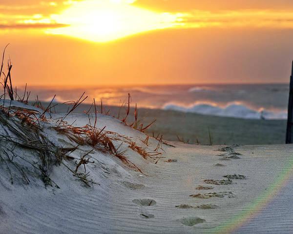 Sunrise Poster featuring the photograph Sunrise Rainbow by Vicki Jauron