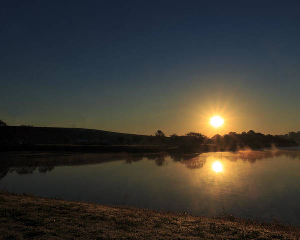 Sun Poster featuring the photograph Sunrise Reflection by Travis Rogers