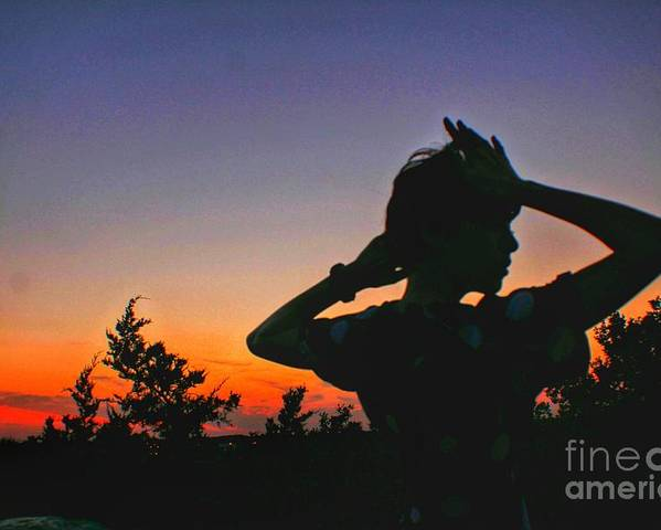 Sunset Poster featuring the photograph Sunset And Shadows by Biz Bzar