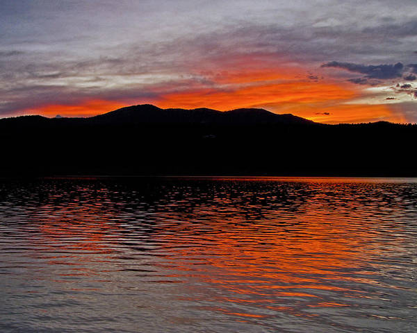 Fine Art Sunset Greeting Cards. Fine Art Sunset Photography. Sunset Lake Picture. Fine Art Carter Lake Picture. Lake Sunset Photography. Red Sky Greeting Cards. Summer Lake Sunset Picture. Summer Lake Sunset Photography. Poster featuring the photograph Sunset At Carter Lake Co by James Steele