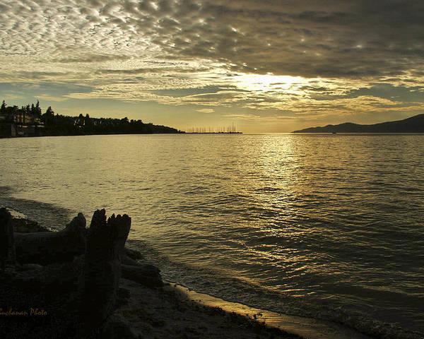 Kitsilano Poster featuring the photograph Sunset At Kitsilano by Tom Buchanan