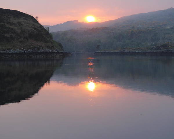 Sunset Poster featuring the photograph Sunset At Kylesku by Joe Valentine