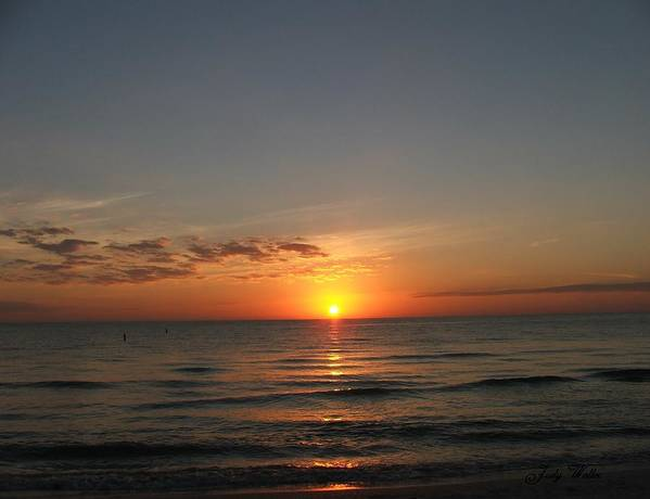 Beach Poster featuring the photograph Sunset Beach by Judy Waller