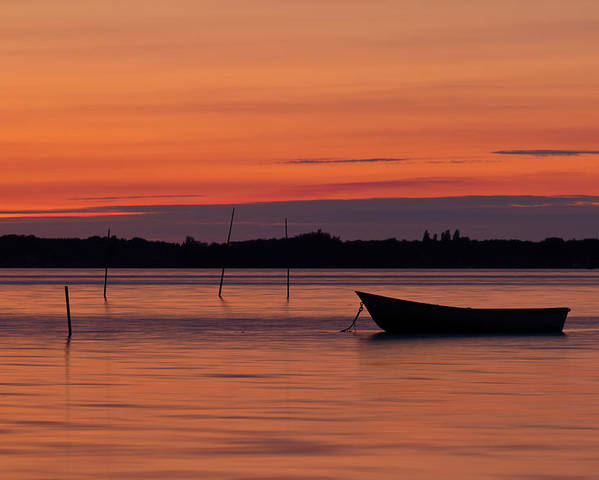 Boat Poster featuring the photograph Sunset Boat by Gert Lavsen