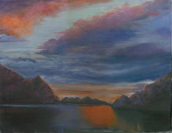 Sunset Clouds Poster featuring the print Sunset Clouds by George Markiewicz