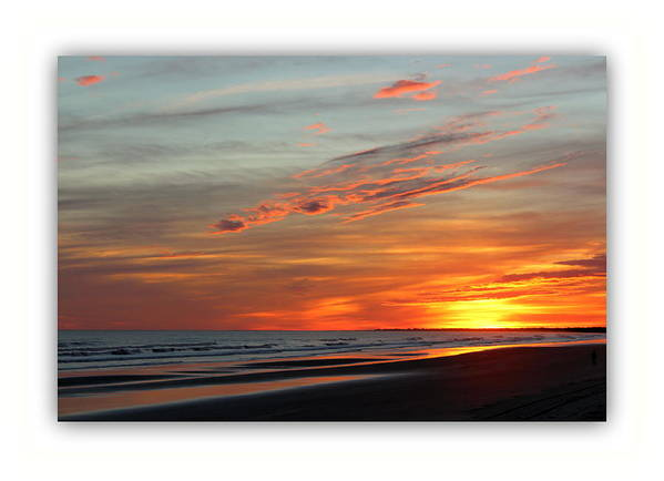 Ocean Poster featuring the photograph Sunset Complete by Rosanne Jordan