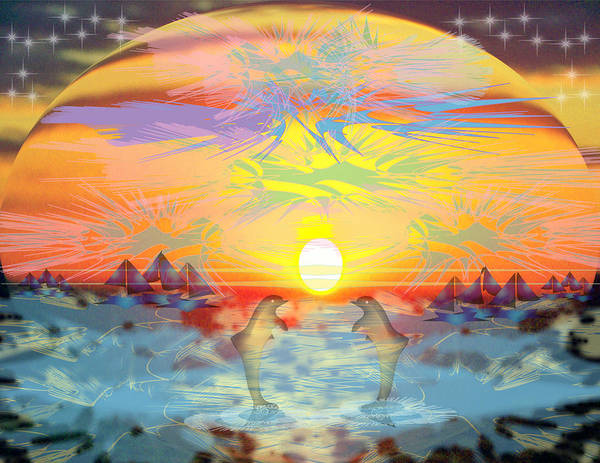 Nature Poster featuring the digital art Sunset IIi by George Pasini