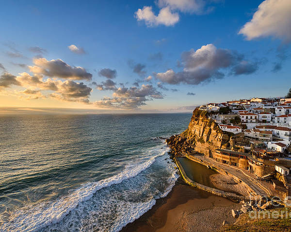 Azenhas Do Mar Poster featuring the photograph Sunset In Azenhas Do Mar by Michael Abid