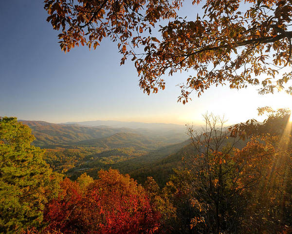 Sunset Poster featuring the photograph Sunset In Great Smoky Mountains by Darrell Young