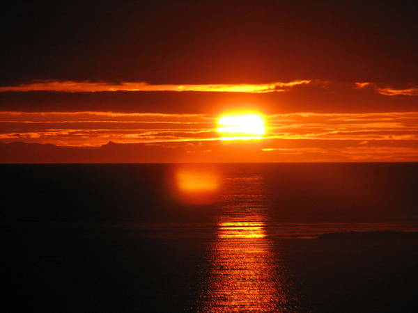 Sunset Poster featuring the photograph Sunset In Reykjavik by Andres Zoran Ivanovic