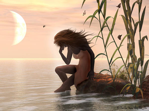 Digital Art Poster featuring the digital art Sunset Mourning by Linda Ebarb