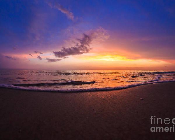 Beach Poster featuring the photograph Sunset Naples Beach Florida by Hans- Juergen Leschmann