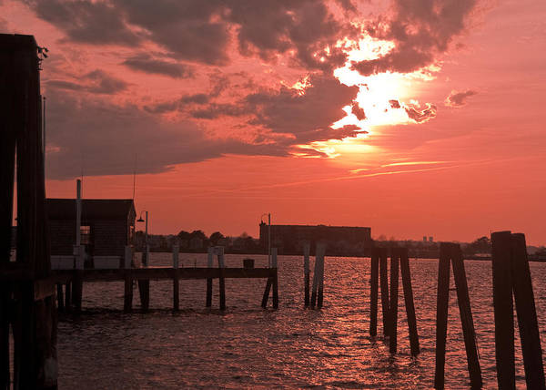 Sunset Poster featuring the photograph Sunset Newport Rhode Island by Steven Natanson